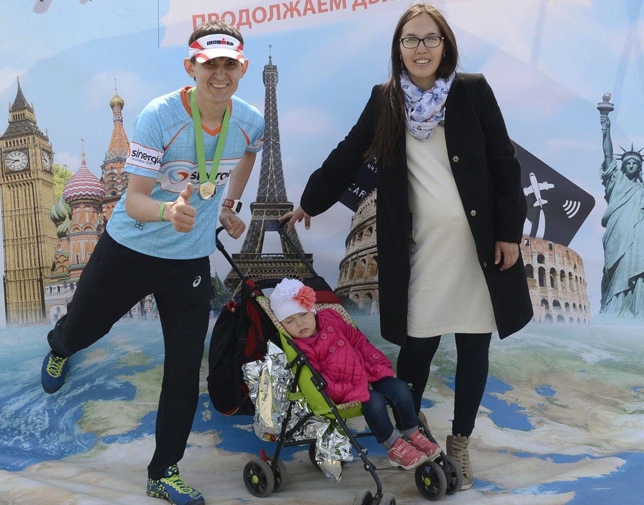 На Московском полумарафоне весной 2016 г.