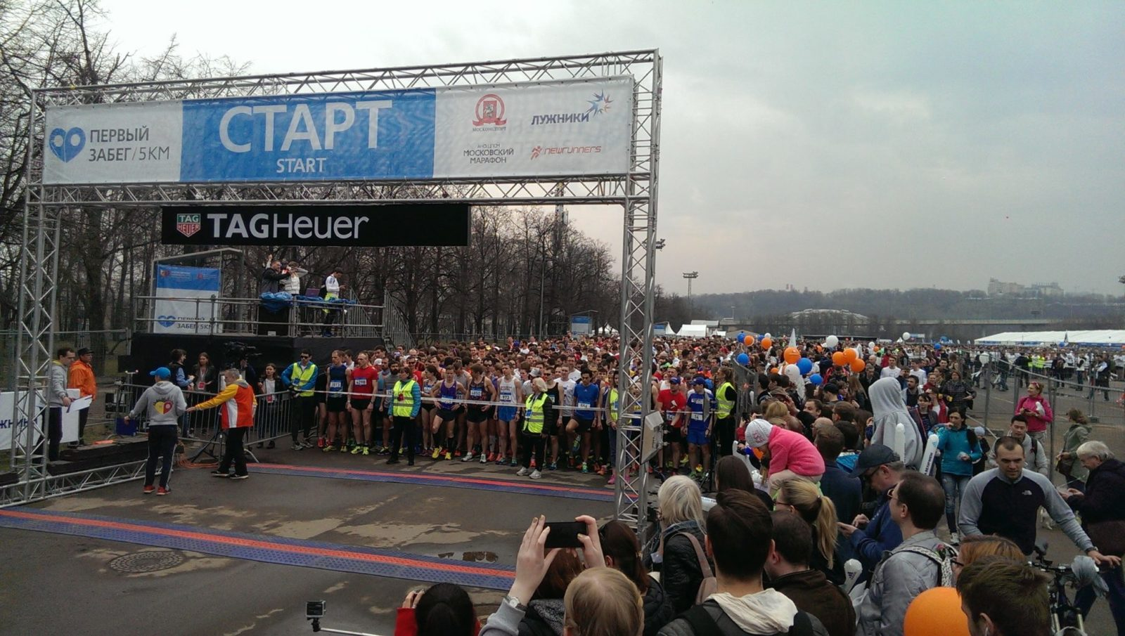 FIRST RUN 5 KM, ЛУЖНИКИ 10.4.2016