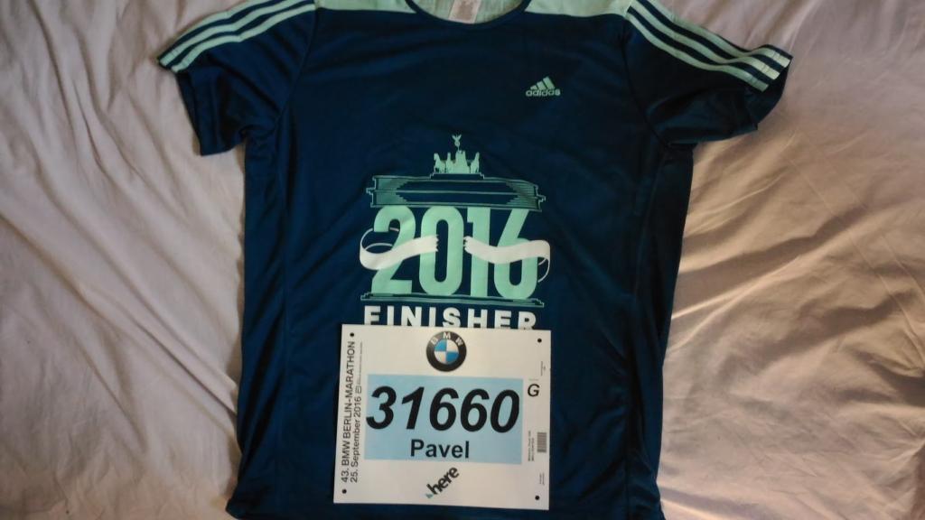 На 43-м Берлинском марафоне футболка выглядела так и обошлась на 20 евро.