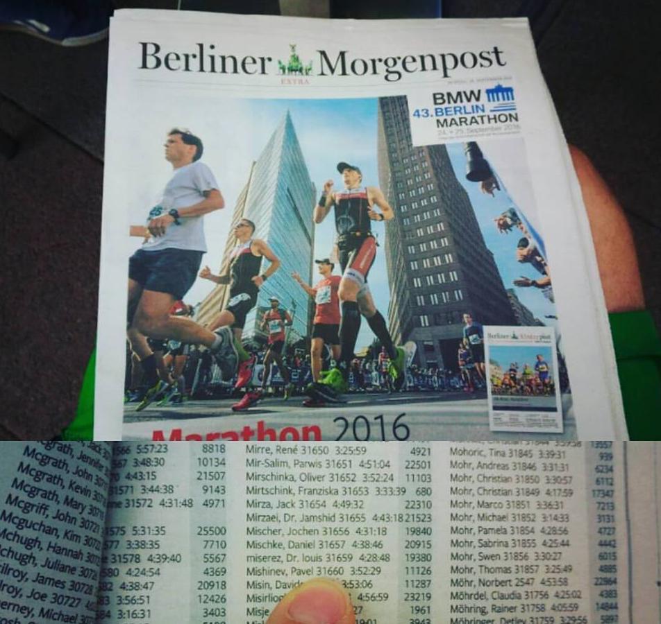 На многох мировым марафонах это стало уже традицией - марафонское приложение газеты главного медийного партнера.