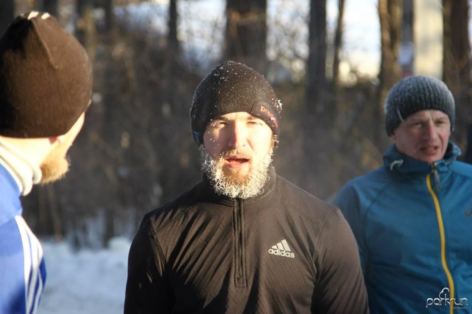 Прошлой зимой в Челябинске прошел забег паркран при -27 градусах!