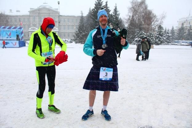 Шотландец Скотт Крайтон в образе шотландца