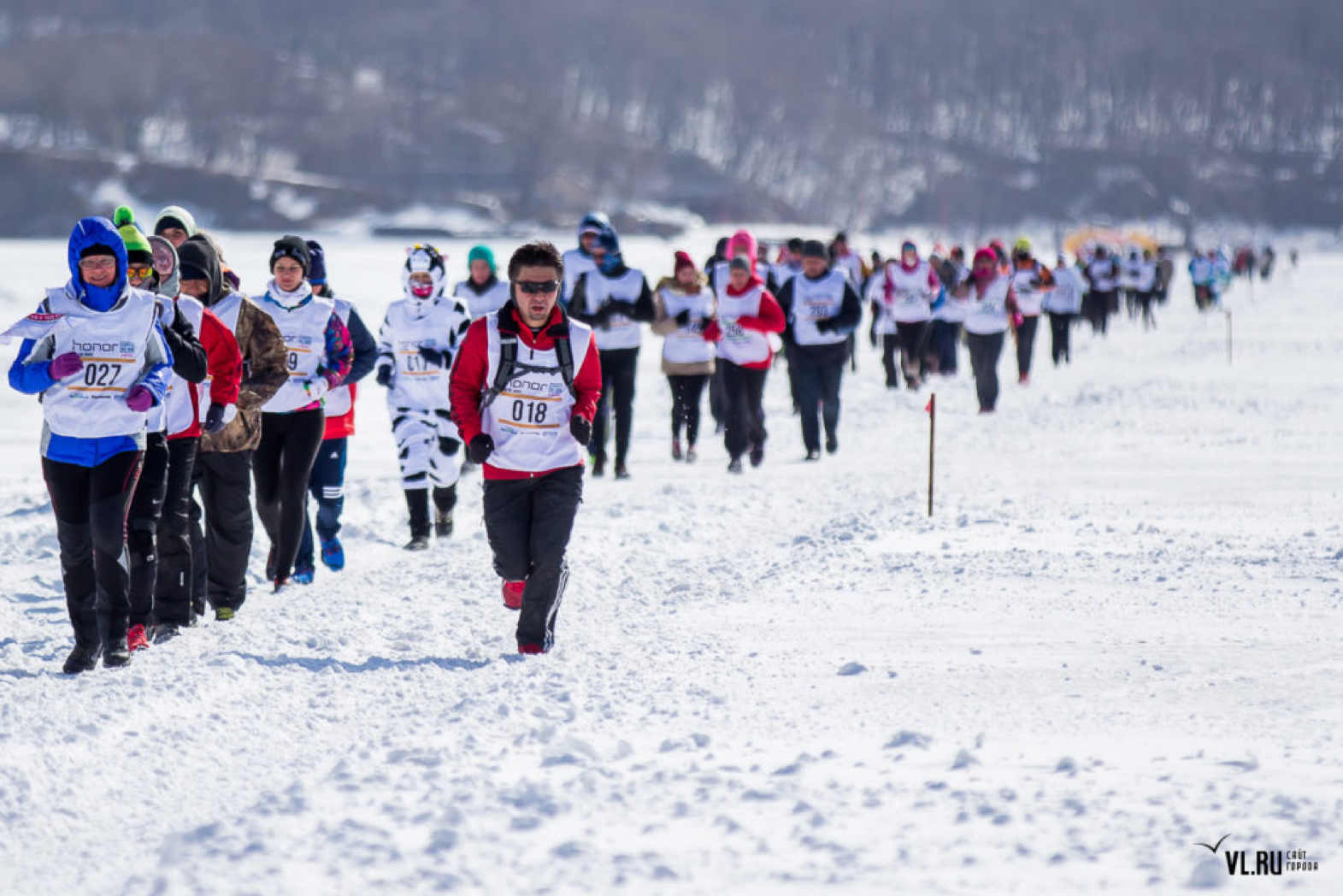 honor vladivostok ice run