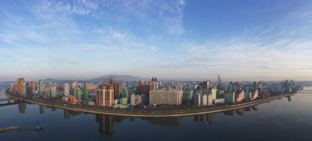Панорама города из окна гостиницы