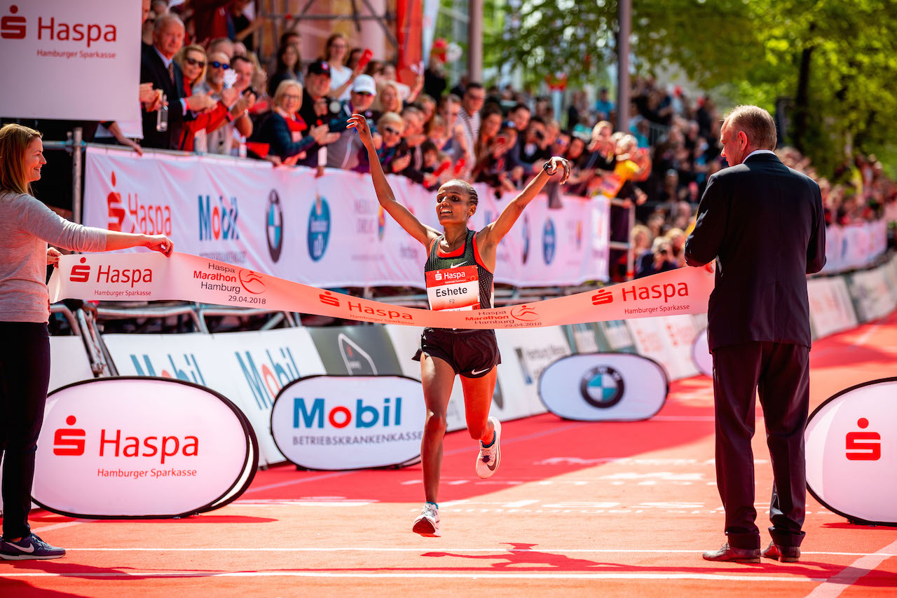 33. Haspa Marathon Hamburg 2018, Siegerin Marathon Frauen, Shitaye Eshete